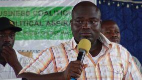 Member of Parliament Hon Mohammed Salisu Bamba speaks at the Townhall meeting.JPG