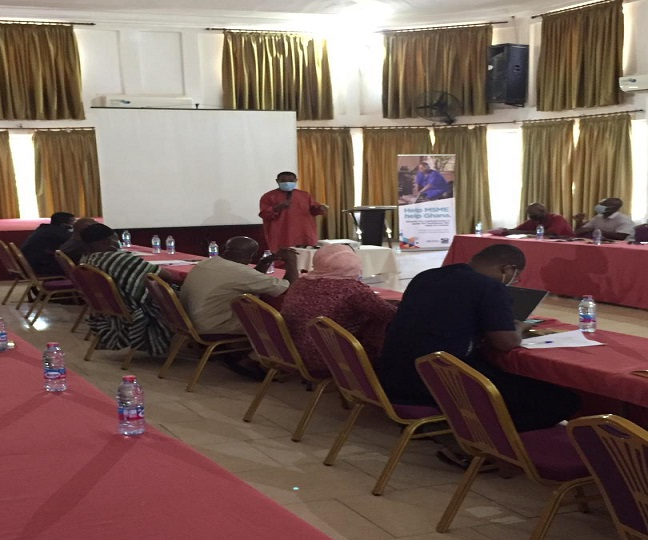 Nana Osei - Bonsu ( CEO of PEF) giving the opening remarks at the AfCFTA workshop in Tamale.
